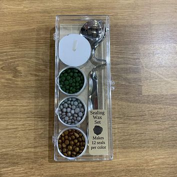 Bead Kit - Antique Gold, Green, Silver