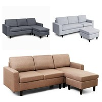 L-Shaped Convertible Sectional with Reversible Chaise