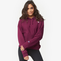 Champion Logo Pullover Hoodie - Women's - Clothing - Basic - Champion - Casual - Women's - Dark Berry Purple | Lady Foot Locker