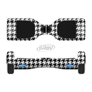 The Black and White Houndstooth Pattern Full Body Skin Set for the Smart Drifting SuperCharged Transportation iiRov