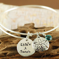 Life's A Beach Bangle Bracelet - Alex & Ani Inspired