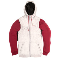 Pusher 14 Heather Grey/Red