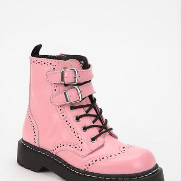 Urban Outfitters - T.U.K. Double-Buckle Lace-Up Combat Boot
