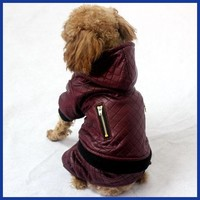 Dog/Cat winter clothes warm coat and jacket Leather Detachable two-piece four legs dog coats jackets for small dogs/Cats clothing