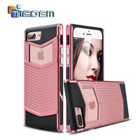 Luxury Armor cover case for iPhone 7 7Plus TPU+PC Silicone hybrid Slim  Shell Grip Rubber Case Cover for Apple iPhone 7 Plus