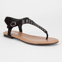 Soda Lima Womens Sandals Black  In Sizes