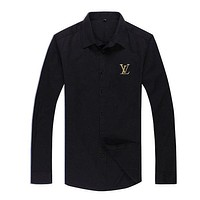 Boys & Men Louis Vuitton Fashion Casual Long Sleeve Shirt