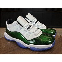 Nike Air Jordan Retro 11 Low Easter Men Sneakers Emerald White/Emerald Rise-Black Sports Shoes