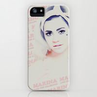 Marina and the Diamonds iPhone & iPod Case by Desirae