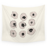 Society6 Poppy Wall Tapestry