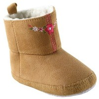 Embroidered Suede Baby Boots   Affordable Infant Clothing