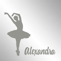 "Ballerina Dancer Dance Name Personalized Etched Mirror Signs Man Cave Decor 12"" L x 12"" T"