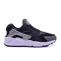 Nike AIR HUARACHE RUN PRM Black White Silver