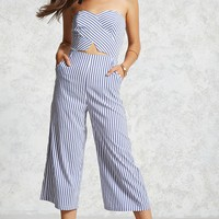 Cropped Striped Jumpsuit