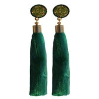 Luxe Tassel Earrings - Green