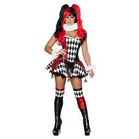 Roma Costume 4371-3Pc Court Jester Cutie