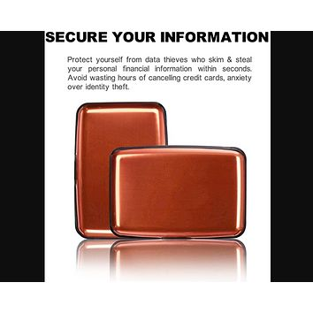 Shell-D Credit Card Protector, RFID Blocking Aluminum 7 Slots RFID Wallets for Women & Men Business Card Holders for ID Credit Cards