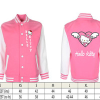 Hello Kitty  Printed College Style Jacket (Adult)
