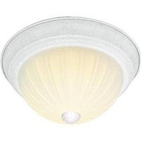 """Nuvo 60-444 - 13"""" Dome Flush Mount Ceiling Light in White Finish"""