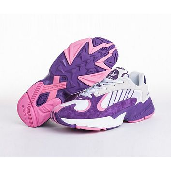 Adidas Dragon Ball Z Yung-1 Newest Popular Women Casual Sport Running Shoes Sneakers White/Purple
