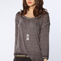 Free People Free People Round Two Tee in Gray Heather : Karmaloop.com - Global Concrete Culture