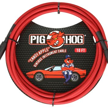 """Pig Hog """"Candy Apple"""" Right Angle Instrument Cable"""