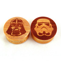 """Astral Wooden Plugs - 0g (8mm) 00g (9mm) (10mm) 7/16"""" (11mm) 1/2"""" (13mm) 9/16"""" (14mm) 5/8"""" (16mm) 11/16"""" 3/4"""" 7/8"""" 1"""" 1 1/8"""" 1 1/4"""""""