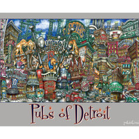 pubsOf Detroit poster • pubsOf.yourTown