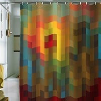 Deny Designs Madart Inc. Glorious Colors Fabric Shower Curtain (Brown)