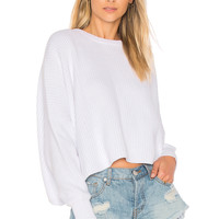 Free People Festival Pier Pullover in White | REVOLVE