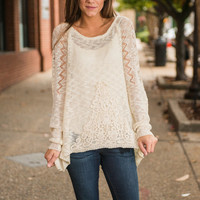 Detail Me What You Know Sweater, Ivory