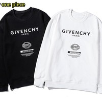 Givenchy New simple loose round neck cotton long-sleeved sweater
