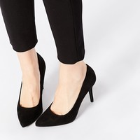 New Look Skittle Black Metal Detail Pointed Heeled Court Shoes