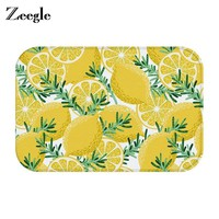 Autumn Fall welcome door mat doormat Zeegle Lemon Pattern  Entrance Floor Mat Pad Kitchen Room Carpet Mats Pastoral Style Water Absorption Mat AT_76_7