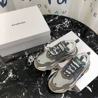 Balenciaga  Gray Triple-S Dad Torre Sneakers Trainers Running Shoes