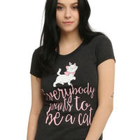 Disney The Aristocats Everybody Wants To Be A Cat Girls T-Shirt