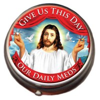 Jesus Pillbox: Give Us This Day Our Daily Meds - Whimsical & Unique Gift Ideas for the Coolest Gift Givers