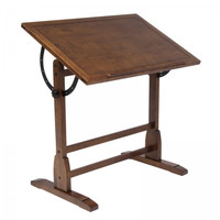 "Vintage Drafting Table (Rustic Oak) (34""H x 36""W x 24""D)"