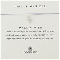 """Dogeared Sterling Silver Make A Wish Life Is Magical Unicorn Lavender Necklace, 16"""""""