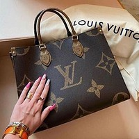 Louis Vuitton Lv Fashion Ladies Print Trendy Shoulder Handbag Bag
