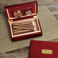 Humidor-Engraved Personalized Cherry Wood Humidor-Retirement- Christmas - Men's Gift - (151)