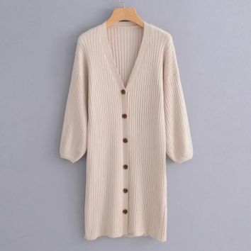 FREE SHIPPING Early autumn new languid breeze cardigan jacket women's long and loose web celebrity sweater