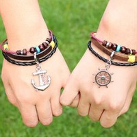 Creative anchor personalized bracelet from Topboutique