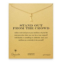 stand out from the crowd giraffe necklace, gold dipped