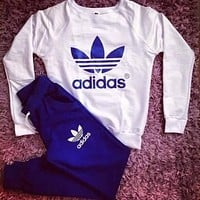 Adidas Fashion Print Pattern Women's Fashion Sports Sportswear Set