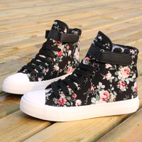 Sweet flower high shoes