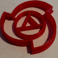 Rose Quartz Symbol Cookie Cutter - Steven Universe 3D Printed