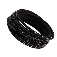 New multi-layer bracelet diamond leather bracelet