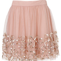 Maeve Sequin Skirt | Pink | Monsoon