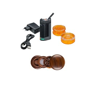 Crafty Vaporizer and a 4 Piece Rosewood Grinder as a Gift!